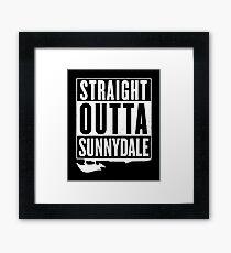 Straight Outta Sunnydale Framed Print