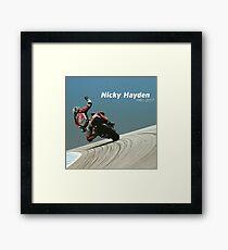 Bye nicky - 69 we miss you Framed Print