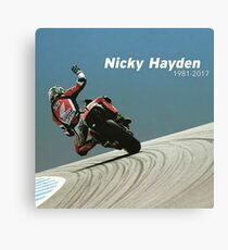 Bye nicky - 69 we miss you Canvas Print