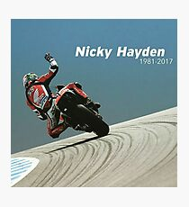 Bye nicky - 69 we miss you Photographic Print