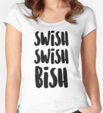 SWISH SWISH BISH (Black) Women's Fitted Scoop T-Shirt