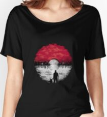 Pokemon Bromance - A Pokeball Sunset Women's Relaxed Fit T-Shirt