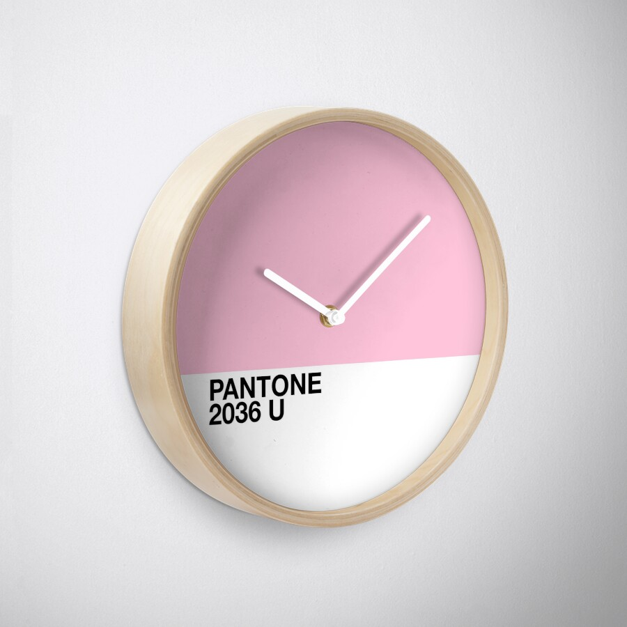 Pantone 2036 u pink clocks by darcy schild redbubble pantone 2036 u pink clocks amipublicfo Image collections