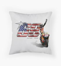 69 to nicky hayden Throw Pillow