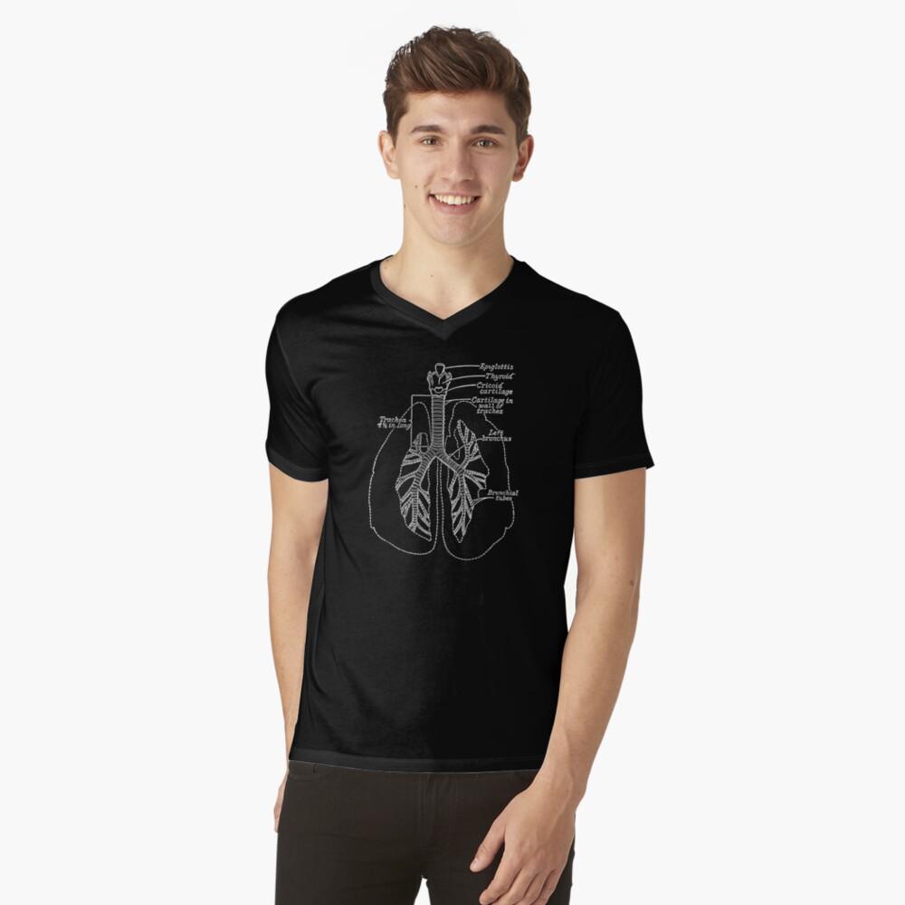 Die Lungen T-Shirt mit V-Ausschnitt
