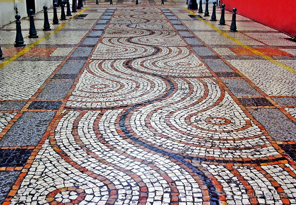 Tiled Street I  by Ethna Gillespie