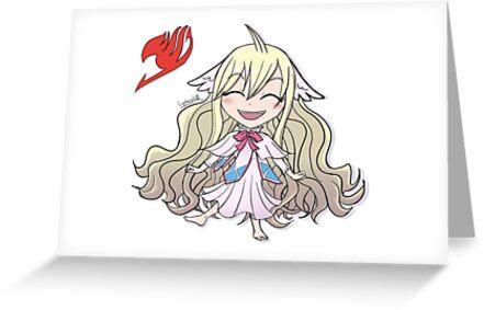 Chibi First Master Mavis Fairy Tail Greeting Card By Lynkawolf