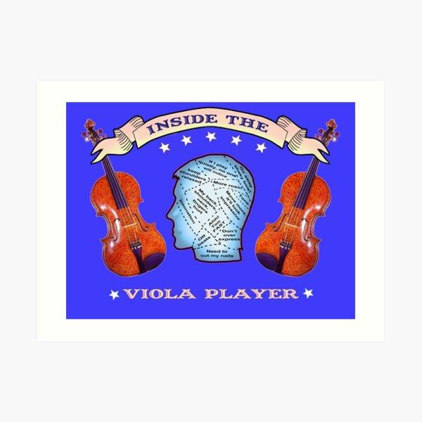 Inside the Viola Player Art Print