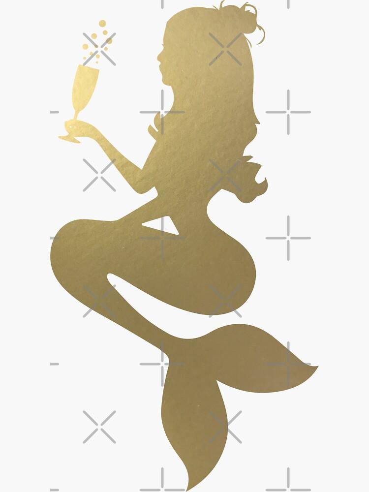 Bebiendo sirena dorada de Designs111