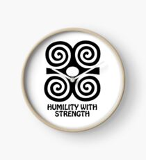T-Shirt Adinkra Symbol: Humility with Strength Clock