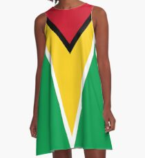 GUYANA FLAG A-Line Dress