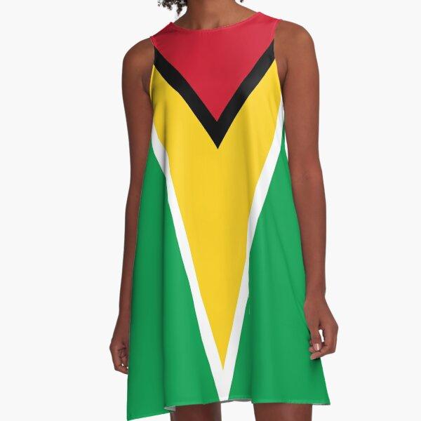 GUYANA FLAG A-Line Dress