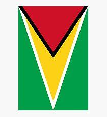 GUYANA FLAG Photographic Print