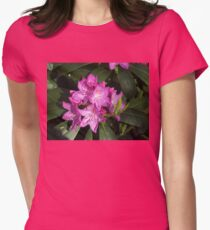 Sunlit Rhodo Blossoms Womens Fitted T-Shirt