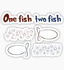 One Fish Two Fish Redshift Blueshift Sticker