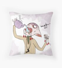 Tea or Morrigan?... Throw Pillow