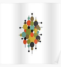Mid Century Modern Ovals Poster