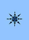 Blue Snowflake by hummingbirds