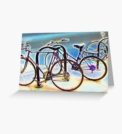 bikes at rest Greeting Card