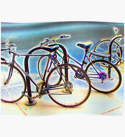 bikes at rest Poster