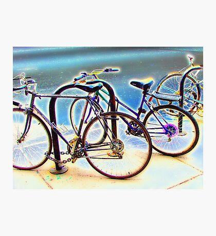 bikes at rest Photographic Print