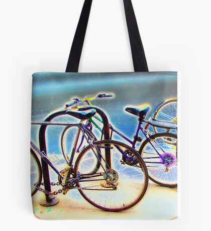 bikes at rest Tote Bag