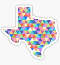 Texas Geometric Colorful Triangles Hipster Texas Sticker