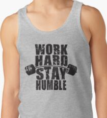 Work Hard, Stay Humble - Barbell Motivation Tank Top