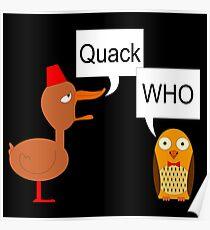 Quack Who Poster