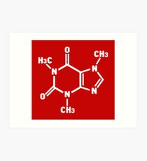 Caffeine Molecule Art Print
