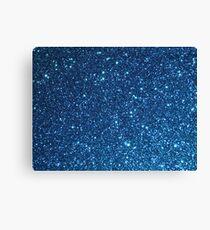 Blue Starry Glitter Canvas Print