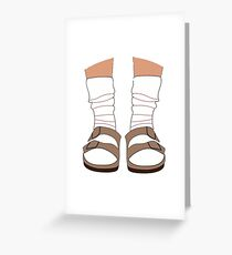 Birkenstocks and Socks Greeting Card