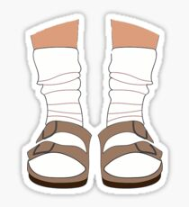 Birkenstocks and Socks Sticker
