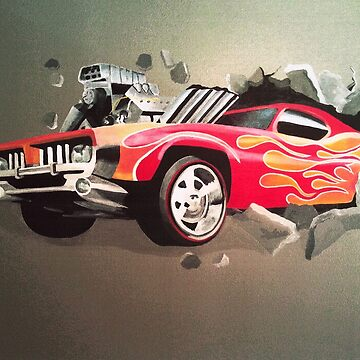 Hot Wheels Car Crashing Through Wall by MelissaB