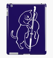Jazz Cat Playing Upright Double Bass iPad Case/Skin