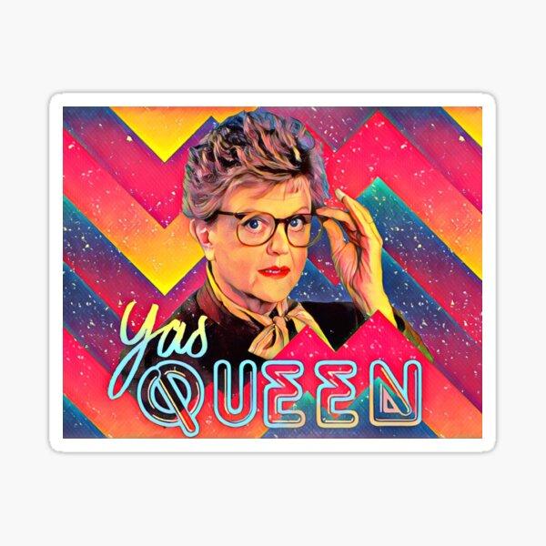 Yas to the Queen Jessica Fletcher Sticker