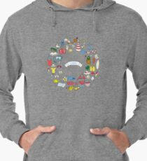 Summer symbols hand darwn wreath! Lightweight Hoodie