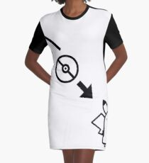 Portal Pokemon Mashup Graphic T-Shirt Dress