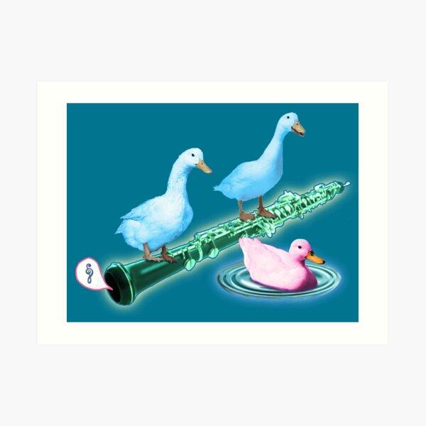 Oboe with Friendly Ducks Art Print