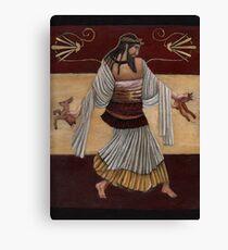 Dionysos Tearing Animal Canvas Print