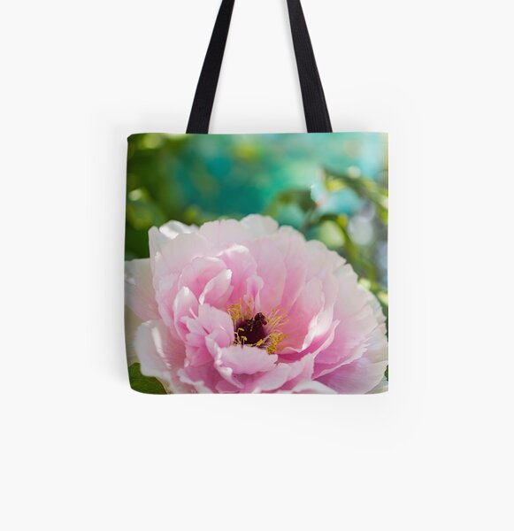 Peony in the Garden All Over Print Tote Bag