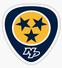 Nashville Predators Guitar Pick with Tri-Star Sticker