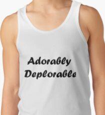Adorably Deplorable Team Deplorable Politics Minority Tshirt Men's Tank Top