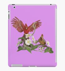 Male and Female Northern Cardnials and dogwood iPad Case/Skin