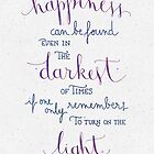 Happiness can be found even in the darkest of times by earthlightened