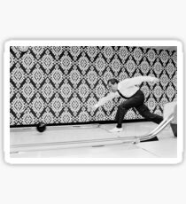 President Richard Nixon Bowling in the White House Bowling Alley Sticker