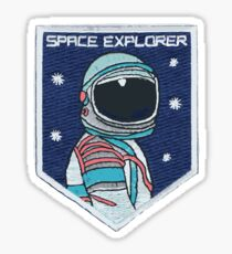 Astronaut Patch Sticker
