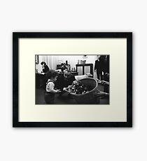 President Lyndon B. Johnson and His Puppies Framed Print