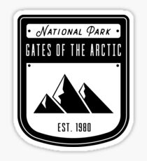 Gates of the Arctic National Park Badge Design Sticker
