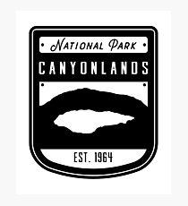 Canyonlands National Park Badge Design Photographic Print